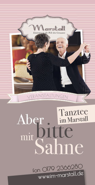 Flyer Tanztee Marstall Neubrandenburg 01