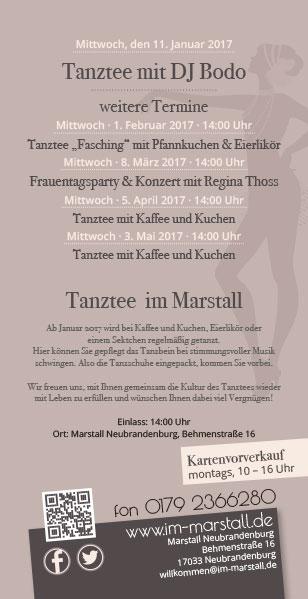 Flyer Tanztee Marstall Neubrandenburg 02