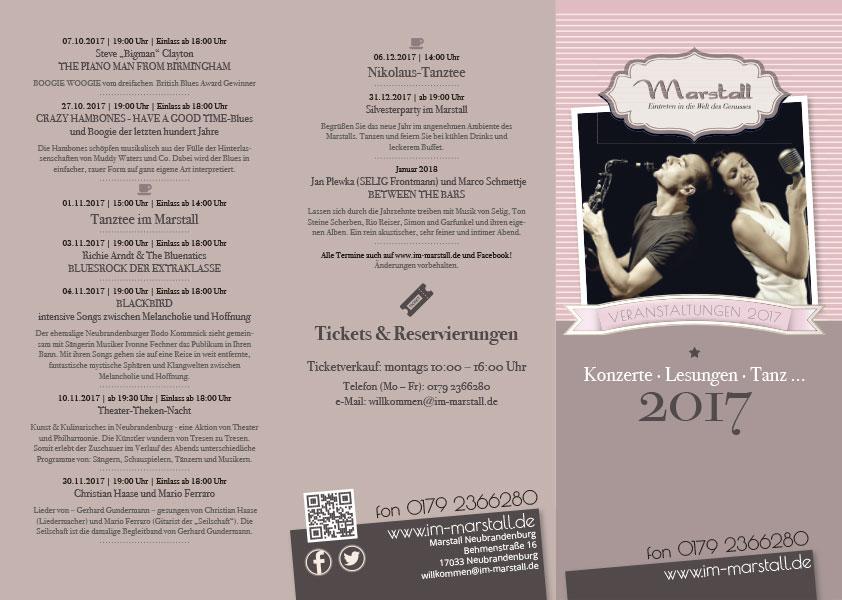 Flyer Veranstaltungen Marstall Neubrandenburg 02