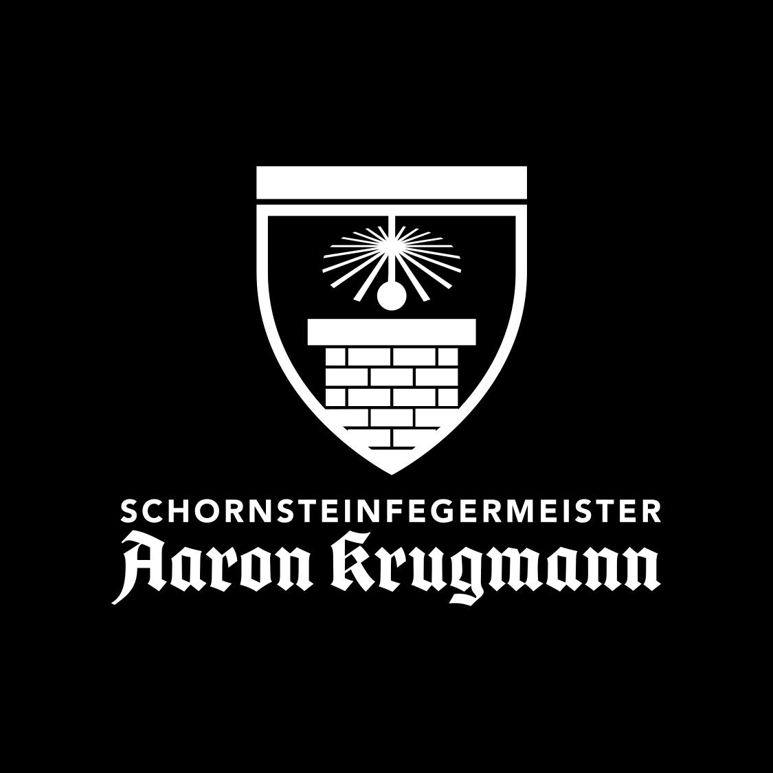 06 Logo Schornsteinfegermeister Aaron Krugmann kompakt negativ